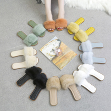 2020 New Spring Summer Home Cotton Plush Slippers Women Indoor\ Floor Flat Shoes Plush Furry Summer Flats Sweet Ladies Slides fayuekey sweet spring summer autumn winter home fashion plush slippers women indoor floor flip flops for girls gift flat shoes