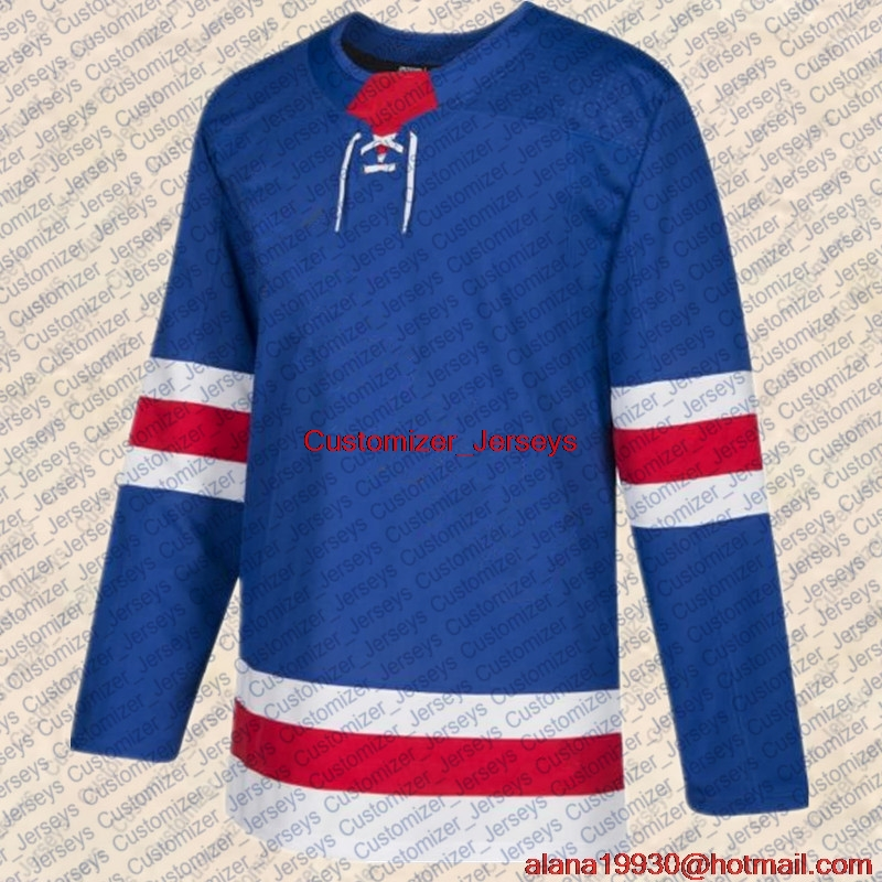 Henrik Lundqvist Mats Zuccarello Mika Zibanejad Kevin Hayes Pavel Buchnevich Chris Kreider Jesper Fast New York Hockey Jersey