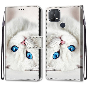 Image 5 - Etui On For OPPO A15 Case Wallet Flip Leather Case For OPPOA A 15 A15s CPH2185 CPH2179 6.52 inch Cute Animal Phone Cover