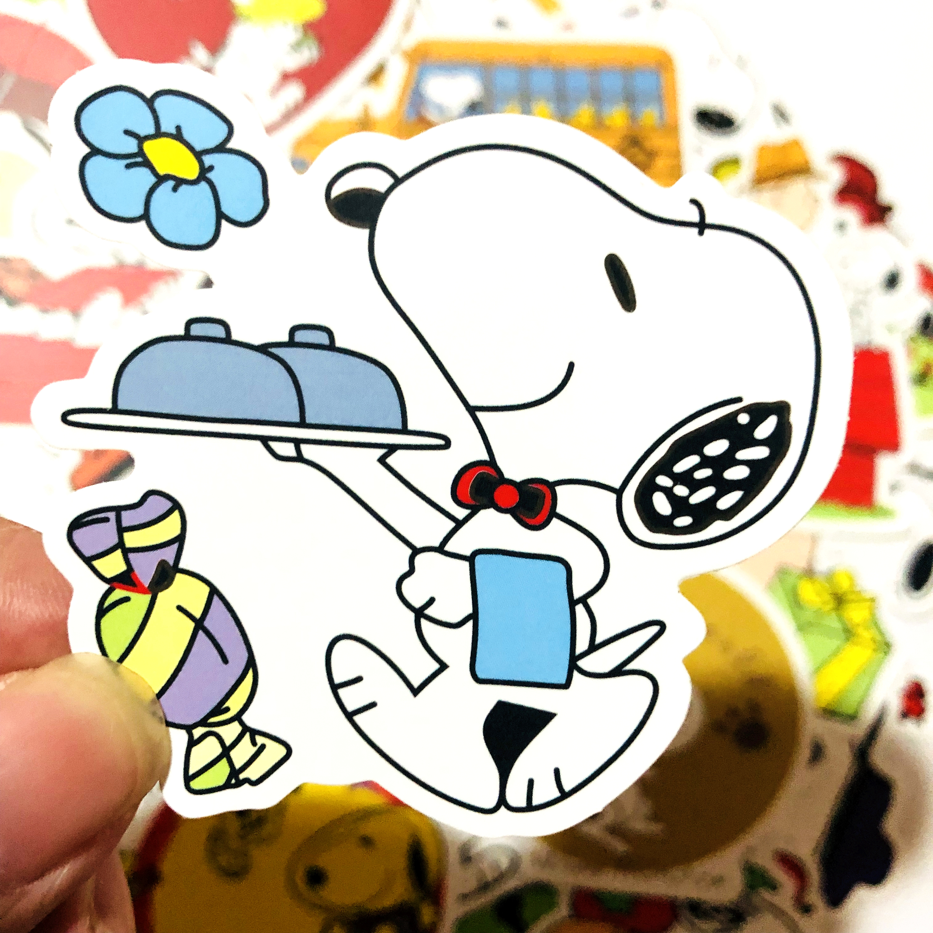 Image 3 - 50/100pcs cartoon Snoopy stickers For Laptop Skateboard Luggage Decal Office Toy Appliances netbook waterproof stickers-in Stickers from Toys & Hobbies