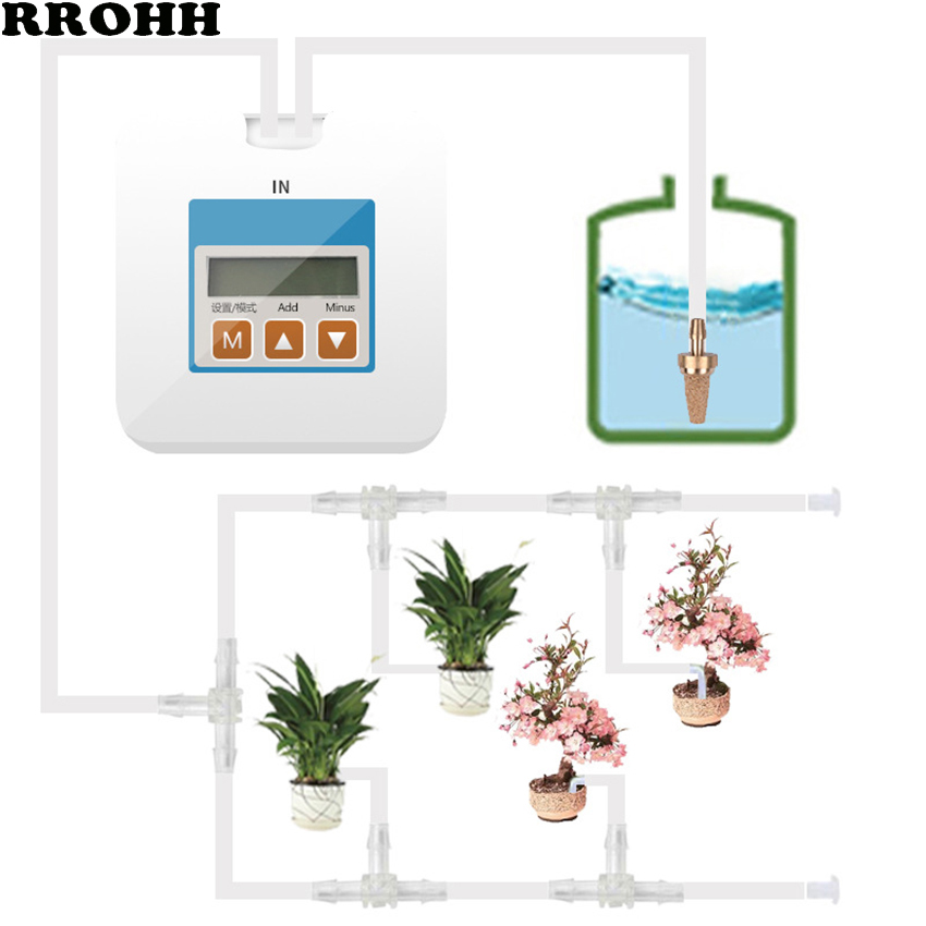 Intelligent Garden Automatic Watering Device Succulents Plant Drip Irrigation Kit Water Pump Timer System Controller Drip Arrow