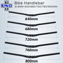 Uno mtb bicicleta guiador da bicicleta guiador em forma de andorinha guiador plana ou subida guiador 31.8*640/680/720/760/800mm parte bycicle
