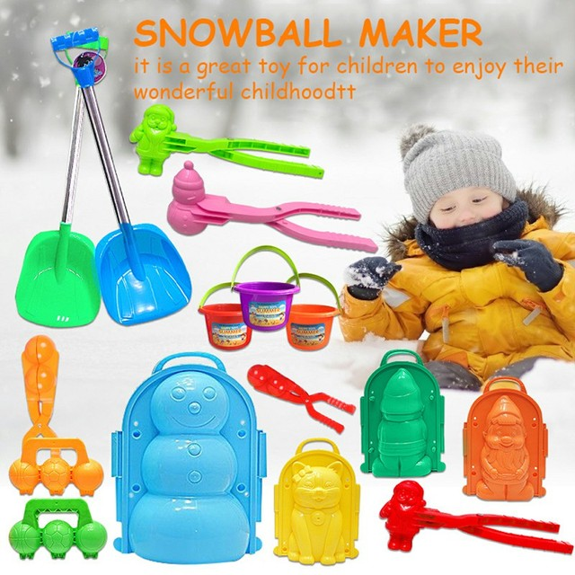11 Style Animal Duck Penguin Snowball Maker Clip Snowman Bomb Children Winter Snow Sand Mold Tool Creative Outdoor Fun & Sports