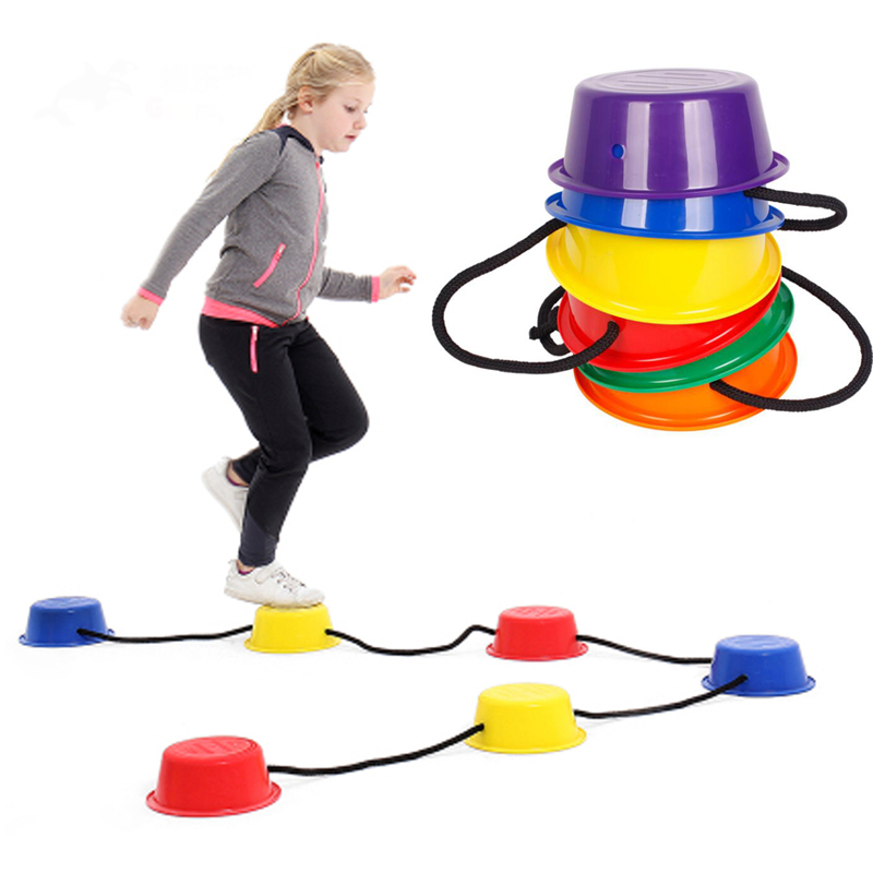 Sports Toy Kids Balance Bucket Children Stepping Stone Sensory Integration Kindergarden - Set Of 6