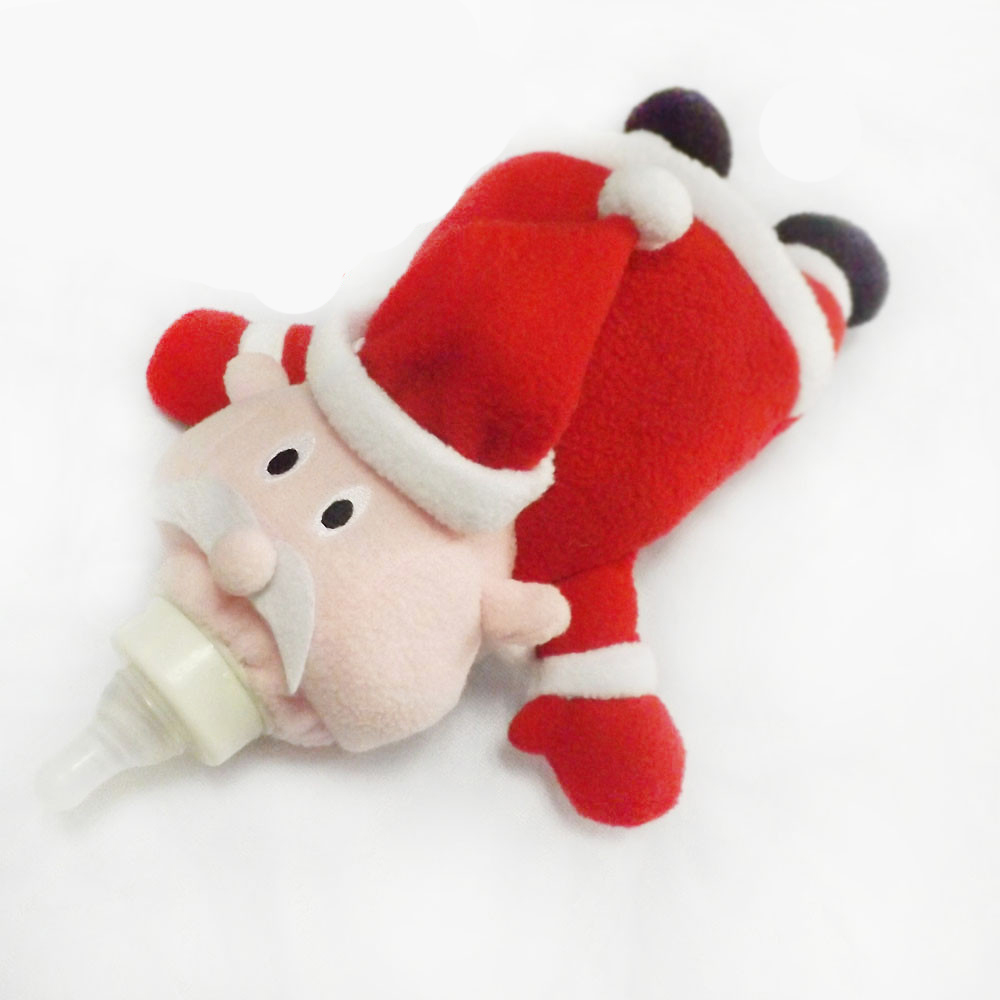 Infant And Toddler Products Cute Plush Toy Cartoon Character Plush Santa Bottle Protection Sleeve Insulation Cover Pacifier