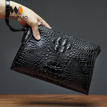 Wmnuo Clutches Bag Men Alligator Envelope Hand Bag Cow Genuine Leather Wallet For Male Clutch Business Wristlets Pouch Hot Sale