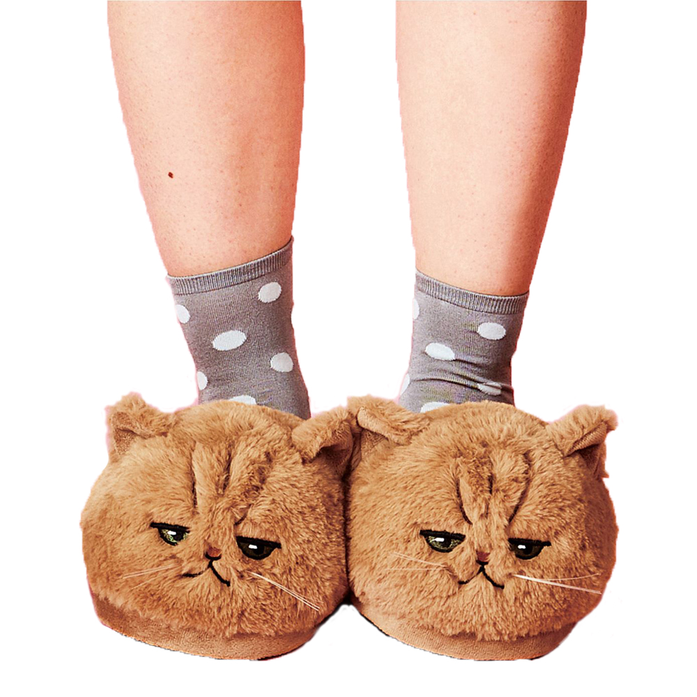 Cat Plush Slippers 4