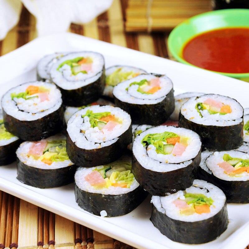 50-100 шт. половина порезанных суши нори морские водоросли оптом с завода Качество ААА, темно-зеленые вторичные выпечки Нори Суши algues, лидер продаж-1