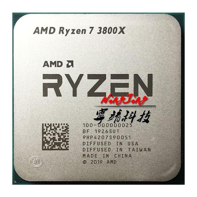 AMD Ryzen 7 3800X R7 3800X3.9 GHz ثمانية النواة ستة عشر موضوع معالج وحدة المعالجة المركزية 7NM L3 = 32M 100 000000025 المقبس AM4