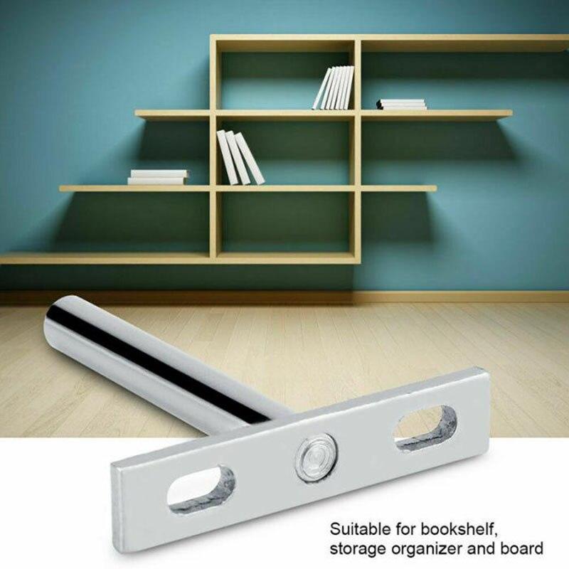 Hidden Floating Wall Shelf Support Heavy Duty Wall Rack Support Holder Bookshelf Bracket  DIY Mounting Plate T Shape Connect