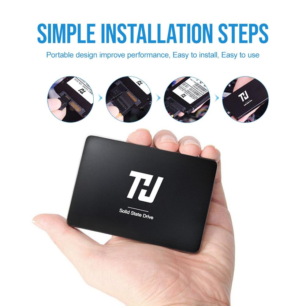 """قرص صلب ثابت داخلي THU SATA3 SSD 120GB 240GB 480GB 1 تيرا بايت 2.5 """"لأجهزة الكمبيوتر المحمول سطح المكتب HDD لاستبدال زيادة الأداء"""