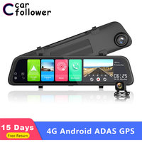 12 4G ADAS Android 8.1 Octa core 2GB RAM Car DVR Dash camera GPS wifi FM Bluetooth 1080P FHD Auto Registrator Rearview mirror