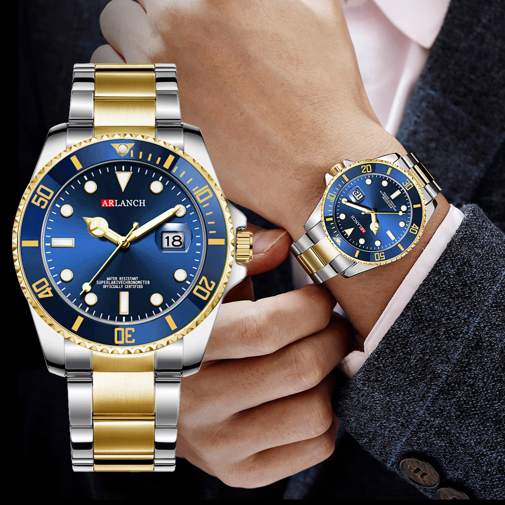 Men Watches 2020 Quartz Waterproof Date Clock Male Fashion Blue Watch Men Top Brand Luxury Gold Rolexable Man Sport Wristwatches