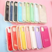 Para o iphone 11 12 pro se 2 caso de luxo original silicone proteção completa capa macia para o iphone x xr 11 xs max 7 8 6s caso telefone