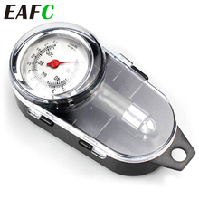 Medidor de manómetro de aire analógico para neumáticos de coche, en forma de espejo, para vehículo motocicleta, Auto