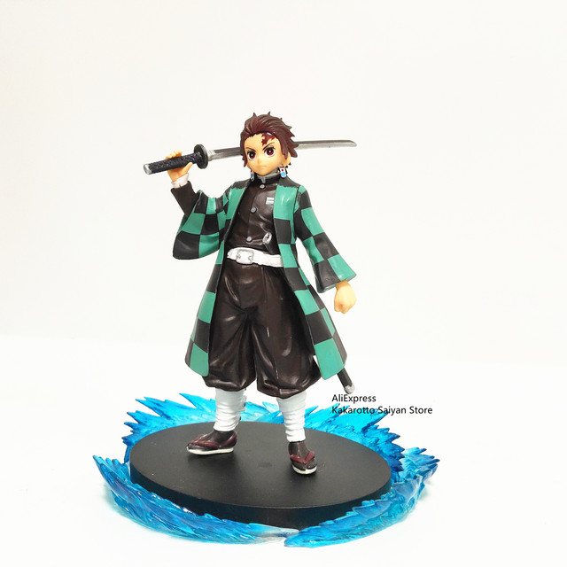 Demon Slayer PVC Action Figures Tanjirou Breath of Water Dance of the Fire God Effect Kimetsu no Yaiba Anime Figurine Model Toys