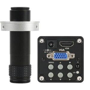 HDMI VGA 720P 14MP 60F/S промышленный цифровой электронный ИК-видео микроскоп камера 130X C крепление объектива для телефона IC PCB пайки