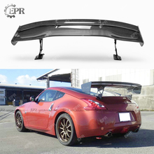 Carbon Fiber for Nissan GT Wing Z34 370Z VTX8 Glass Fiber Rear Trunk Spoiler Lip Trim Car-styling for infiniti g37 4door sedan rear spoiler wing lip car styling for g37 high quality carbon fiber rear trunk spoiler wing 2007 13