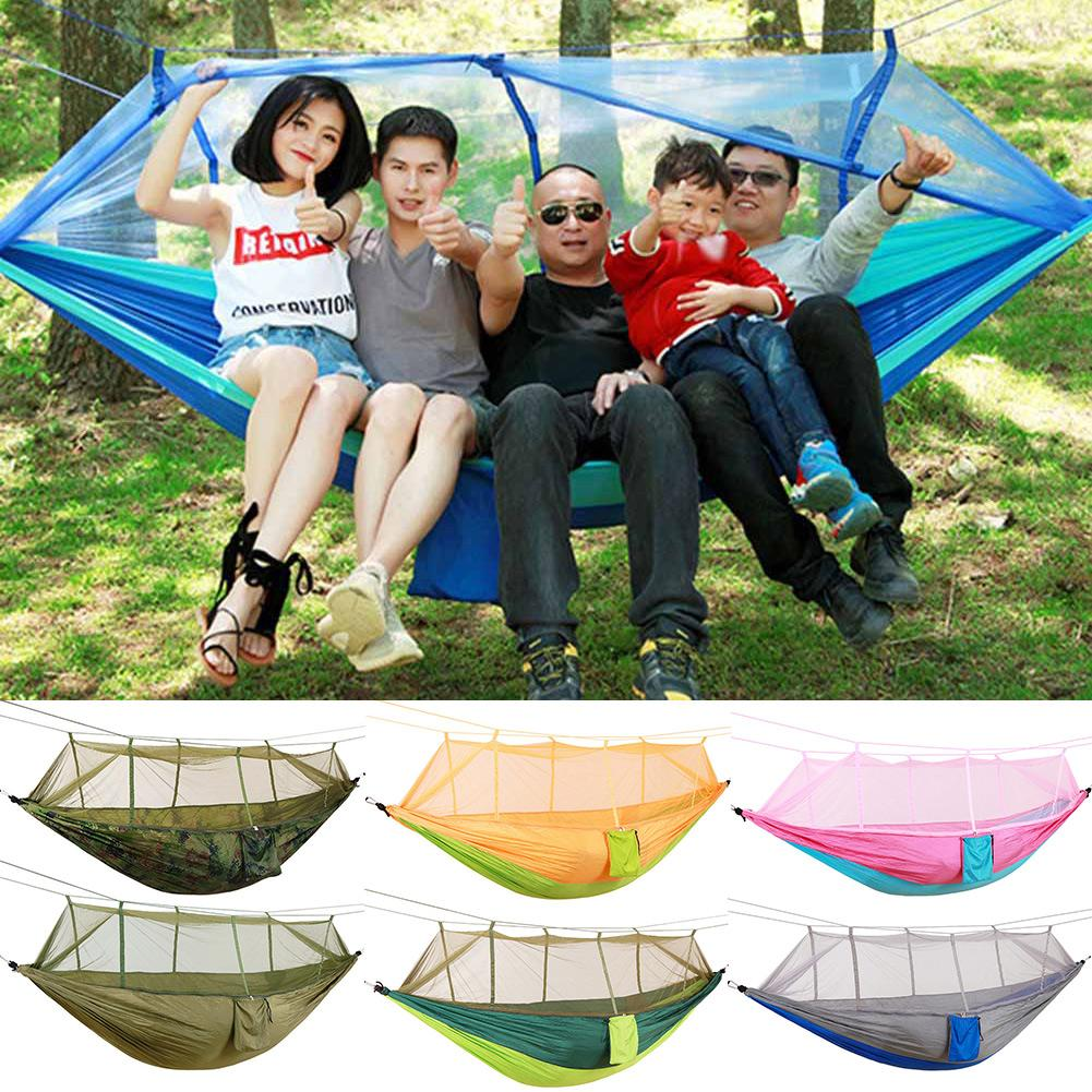 Portable Camping Jungle Outdoor Swing Hammock Mosquito Net Sleeping Hanging Bed Hanging Bed Hunting Sleeping Swing