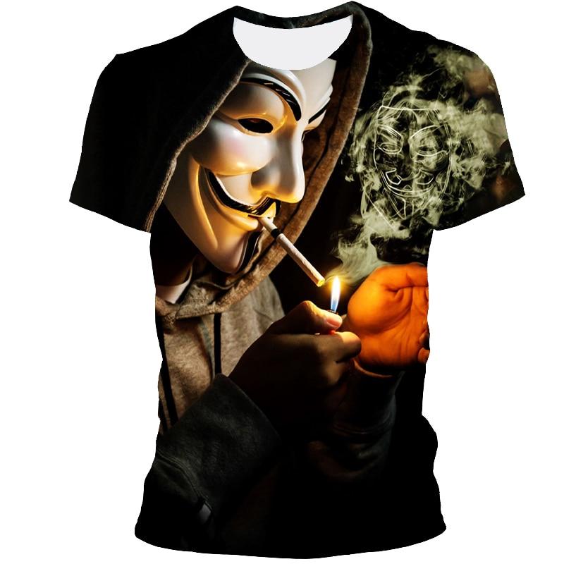 2021 Fashion 3DPrinting T-Shirt Men's All- Match T-Shirt Clown Short Sleeve Fashion Character T-Shirt Unisex