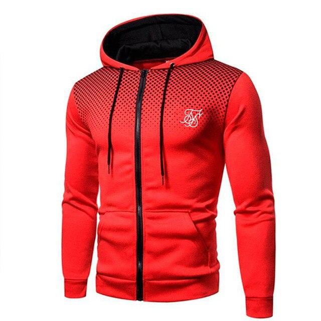 Ropa Hompre High Street Brand SikSilk Plus Velvet Print Polka Dot Men's Hoodie Outdoor Street Sports Running Training Sweatshirt 4