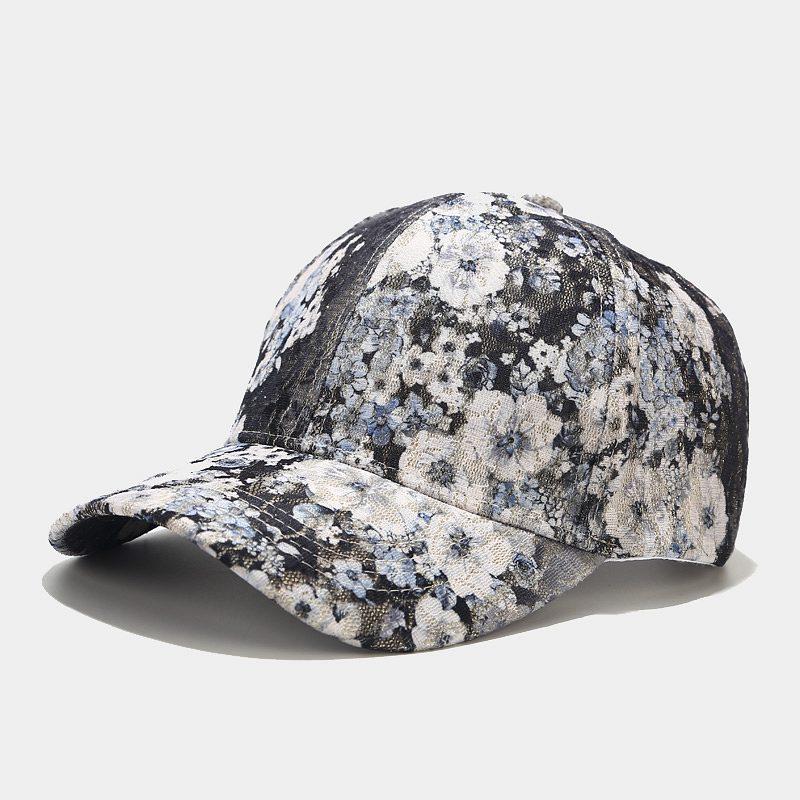 Adjustable Baseball Cap For Men And Women Forest Flower Fashion Street Leisure Sunbonnet Sun Protection Print Baseball Caps