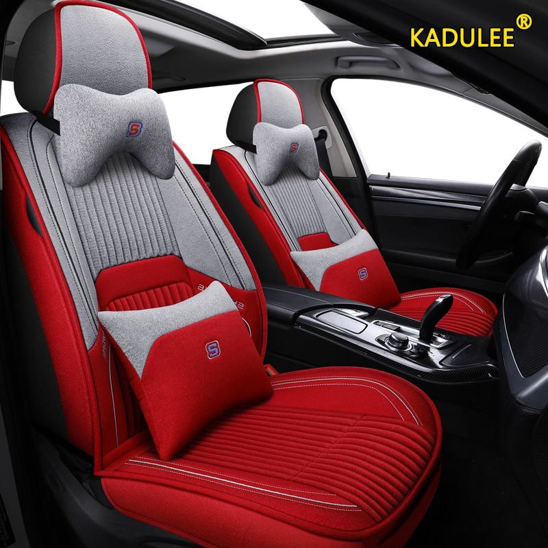 KADULEE flax car seat covers For Volkswagen passat b5 b6 b7 vw polo 4 5 6 7 golf tiguan jetta touareg seat cover cars seats