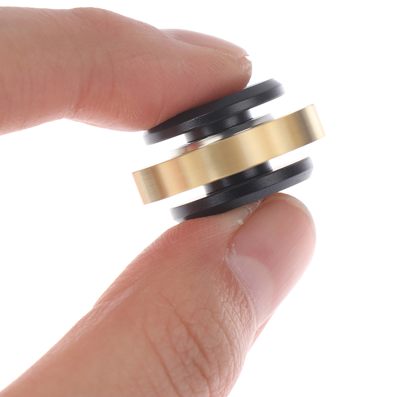 Spinner Fidget-Toy Gear Stress Relief Finger-Edc Metal-Alloy MINI Gift 1-Pc img1