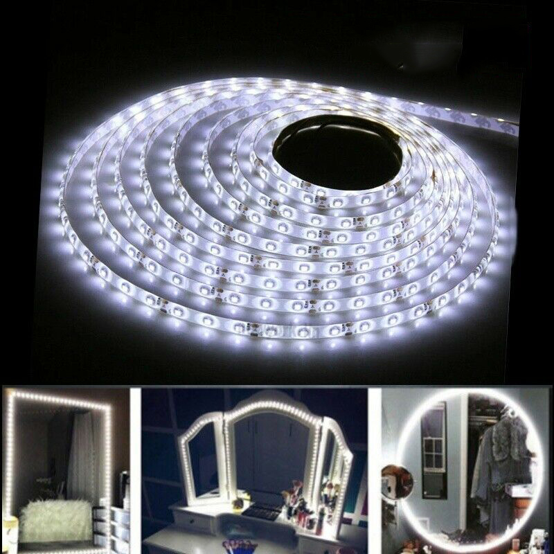 2M/5M RGB LED Strip Light 12V 2835 Cool White 120Led/300Led SMD Flexible Led String Light Makeup Mirror Decor TV Backlight