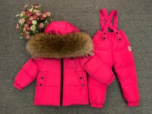 Image 5 - 2018 Kinderen Skipak Russische Winter Baby Boy Pak Eendendons Kinderen Jas voor Meisje Jas Overalls Warme Jas Kid meisje Set