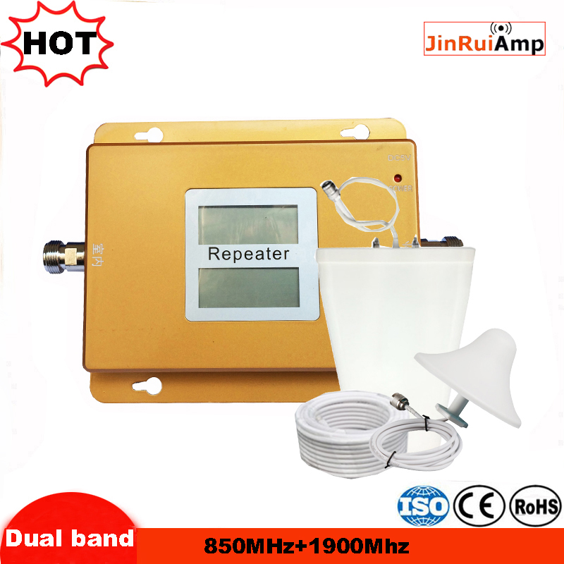 NEW 2G/3G 850 1900 Display Dual Band Repeater Signal Amplifier CDMA 850 And 3G PCS 1900 Mobile Phone 3G Repeater