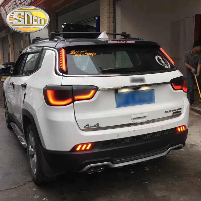 Voor Jeep Compass 2017 2018 2019 Sncn Multi-Functies Auto Led Rear Bumper Licht Mistachterlicht Auto Lamp remlicht Reflector