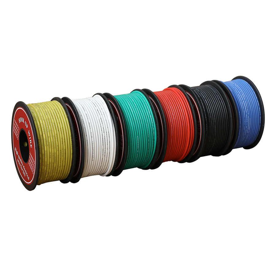 6 Rolls 30 Awg Flexible PVC Wire Electric Gauge Coper Hook 300V Cables 30 Gauge