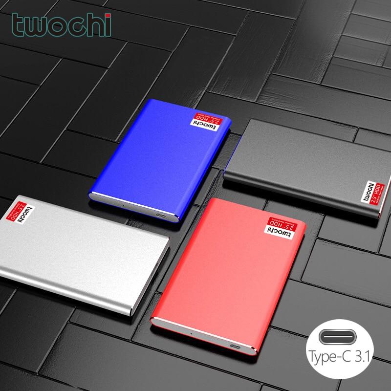 TWOCHI'2.5 дюймов внешний жесткий диск USB3.1 дисковый накопитель на жестком диске устройств высокого Скорость 2,5 корпус для жесткого диска настол...
