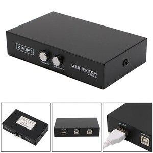 Image 1 - 2 porte USB2.0 Interruttore Dispositivo di Condivisione Switcher Box Adattatore Per PC Scanner Stampante 37MC