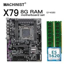 X79 LGA 2011เมนบอร์ดชุดAtx Intel Xeon E5 1620 CPU 8G(2*4GB) DDR3 REG ECC RAM M.2 NVME SSD X79Z 2.4F