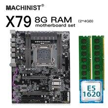X79 LGA 2011 motherboard set kit atx mit Intel Xeon E5 1620 CPU 8G(2*4GB) DDR3 REG ECC RAM M.2 NVME SSD X79Z 2,4 F