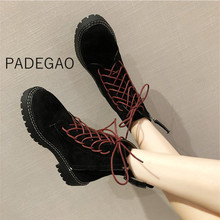 Womens Boots 2019 Fashion Motorcycle Boots for Women Winter Ankle Boots for Women Black Boots