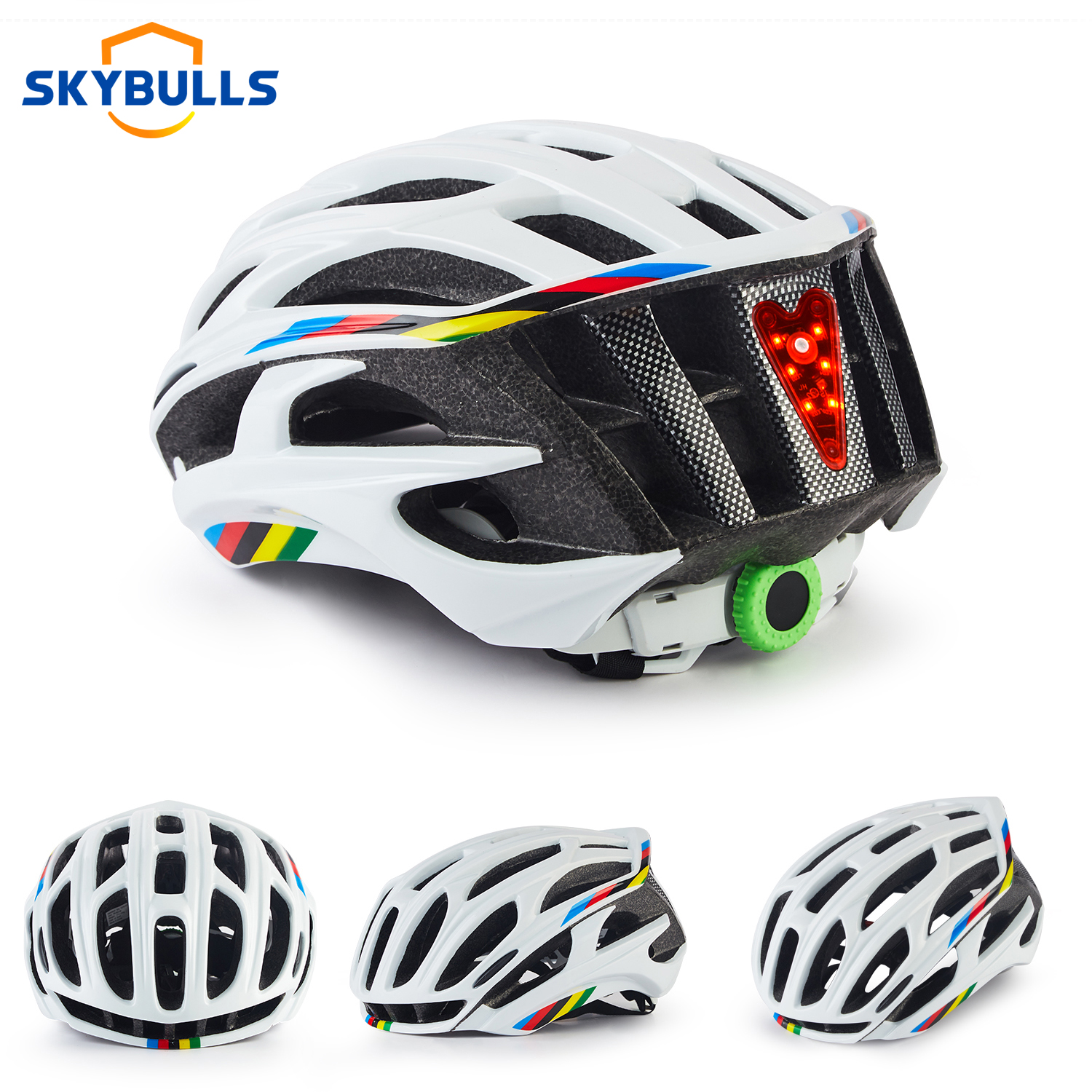 Skybulls Road Mountain Bike Helmet Man Ultralight casco MTB Cycling Helmet With LED Taillight Sport Safe Gear capacete ciclismo(China)