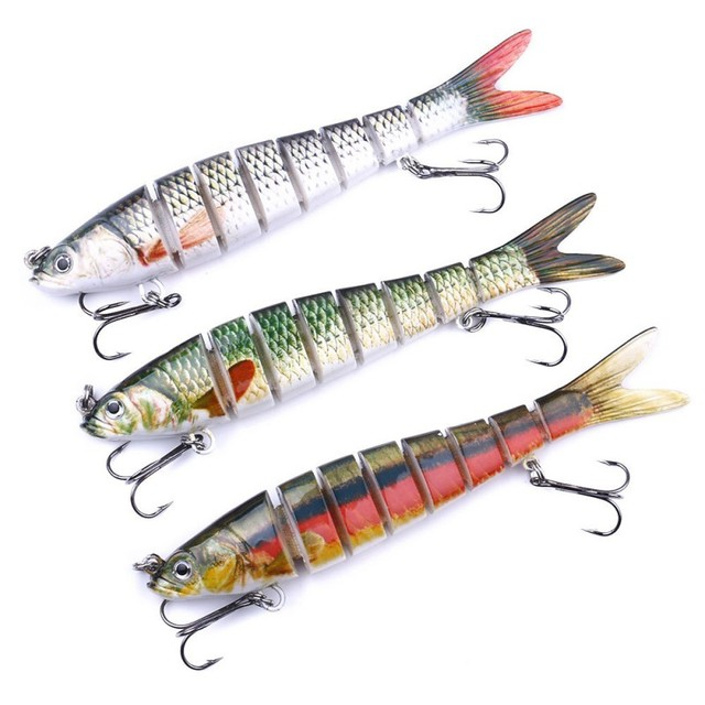 Luya Knotty Fish 8 Segments Hook Bionic Hard Bait Sinking Wobblers Fishing Lures Artificial Bait For Fishing Tack 2021 1