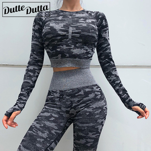 Image 3 - Nouveau 2 pièces sans couture vêtements de sport Yoga ensemble Fitness entraînement ensembles Yoga Out sadapte pour les femmes athlétique Legging vêtement de sport pour femmes