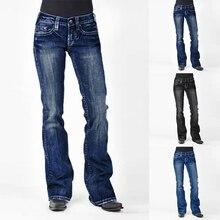 2019 High Waist Flare Mom Jeans Boyfriend Jeans Fo