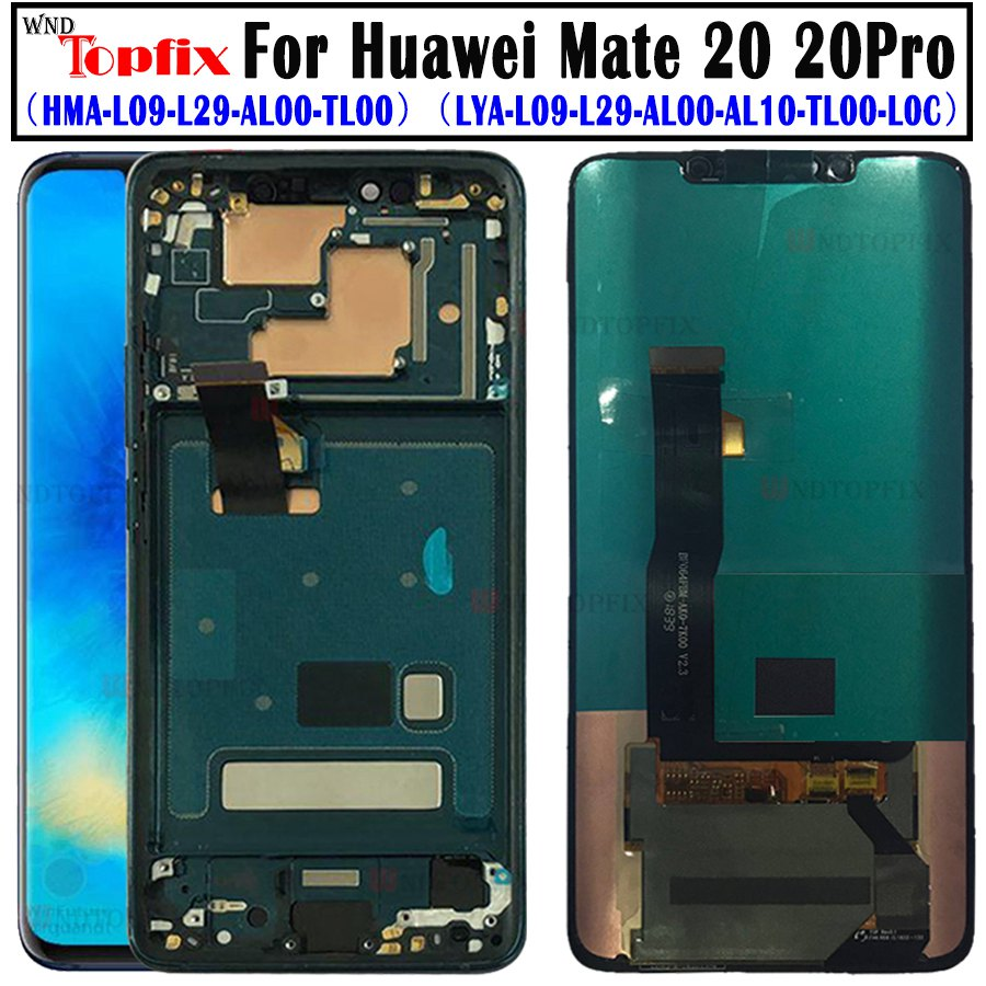 For Huawei Mate 20 Pro LCD Display Touch Screen Digitizer Assembly Repair For Huawei Mate 20 LCD Huawei Mate20Pro LCD Screen