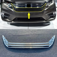 For Honda Odyssey 2018 2019 2020 Chrome Front Center Grille Grill Cover Molding Trim Exterior Accessories Car Styling