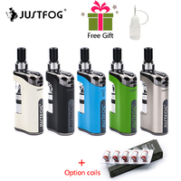 In stock E Cigarette JustFog Compact 14 Kit 1500mah built in battery with 5PCS Justfog Coil vs Justfog Q16/Q14 Kit