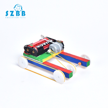 SZ STEAM Model Toy Diy Electric Pulley Four-wheel Drive Developing Intellectual STEM Science ELectric Birthday Gift