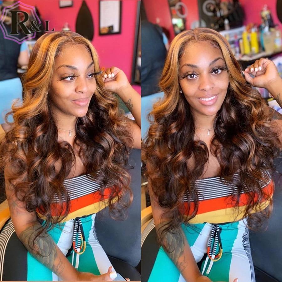 Rulsec 13*6 t-part parrucca in pizzo onda parrucche per capelli umani parrucche anteriori brasiliane per donne 150% densità 8-24 Non Remy