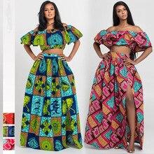 Африканская одежда новости Дашики принты вечерние с открытыми плечами женские юбки на бретельках африканские платья для женщин Bazin Ankera длинный халат
