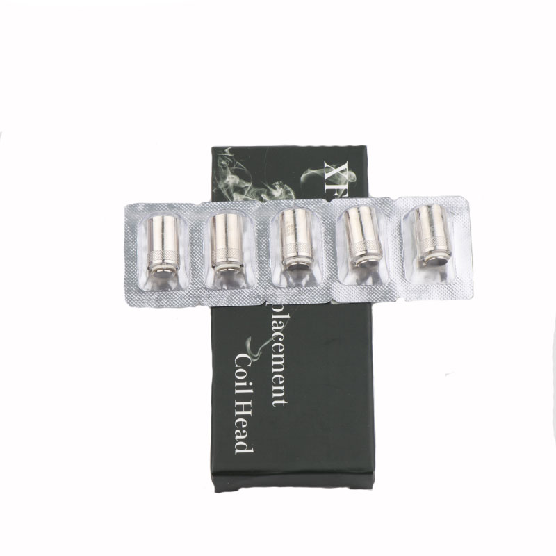 XFKM 5pcs/pack Replacement Coil Head BF SS316 0.5ohm 0.6ohm 1.0ohm  Vape Coil For EGo BF AIO Electronic Cigarette Accessories