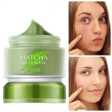 1Pcs Matcha Mud Facial Mask Cream Deep Cleaning Oil-Control Moisturizing Blackhead Remover Acne Treatment Pore Cleanser Mud